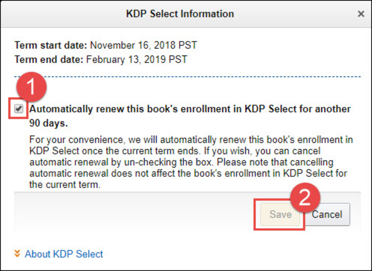 Kindle Direct Publishing - KDP Select Enrollment