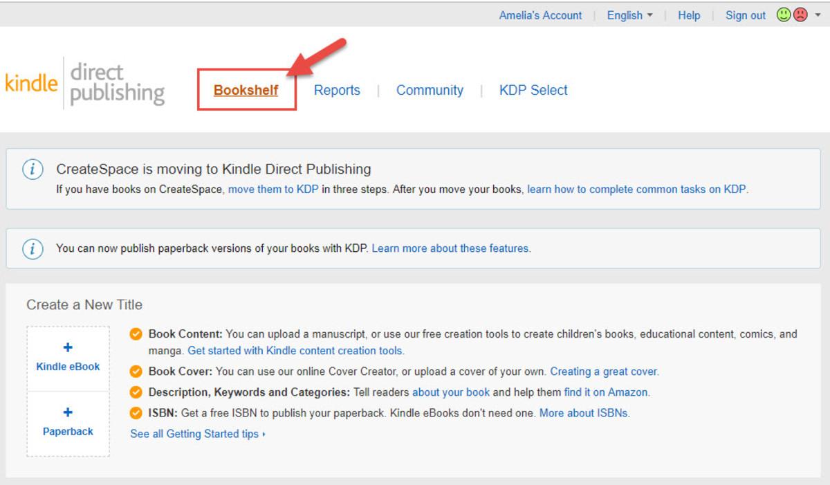 Kindle Direct Publishing Bookshelf