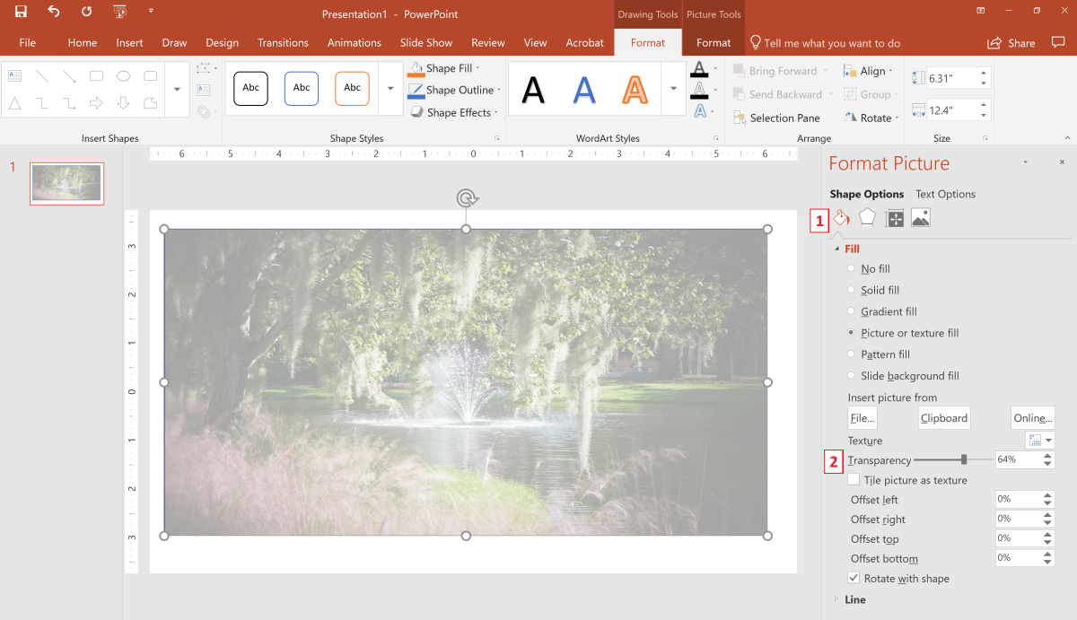 how-to-change-photo-transparency-in-office-365-programs
