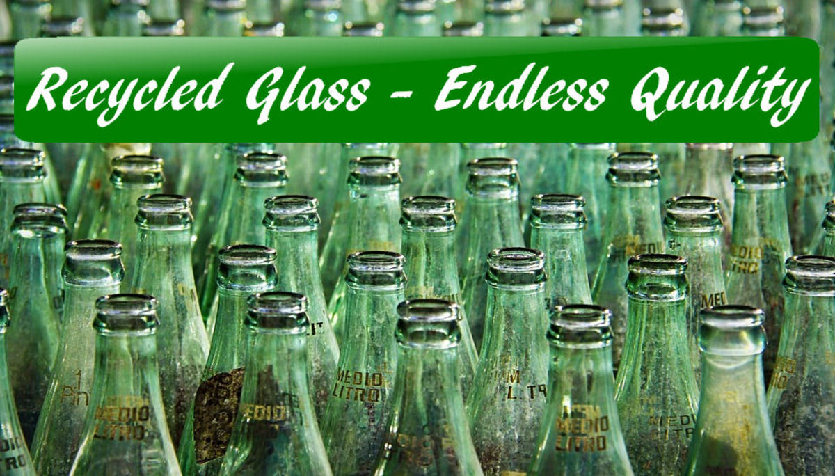 Recycled Materials Green Glass