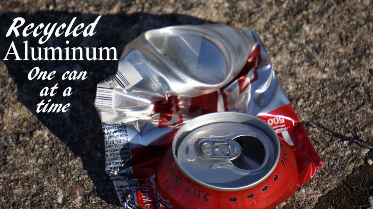 Crushed Can For Aluminum Recycling