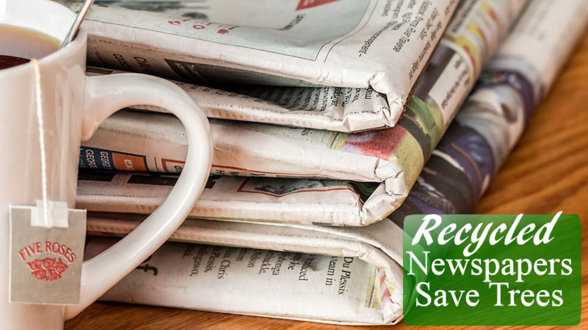 Recycled Newspapers Save Trees