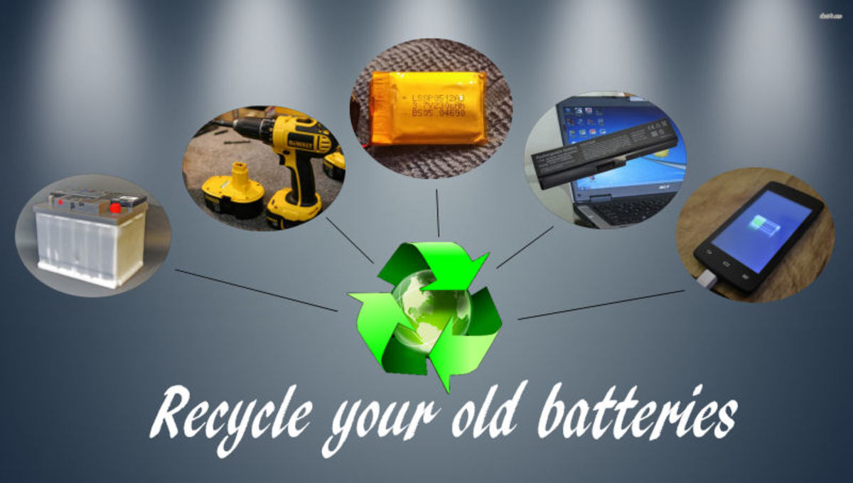 Batteries that should be recycled