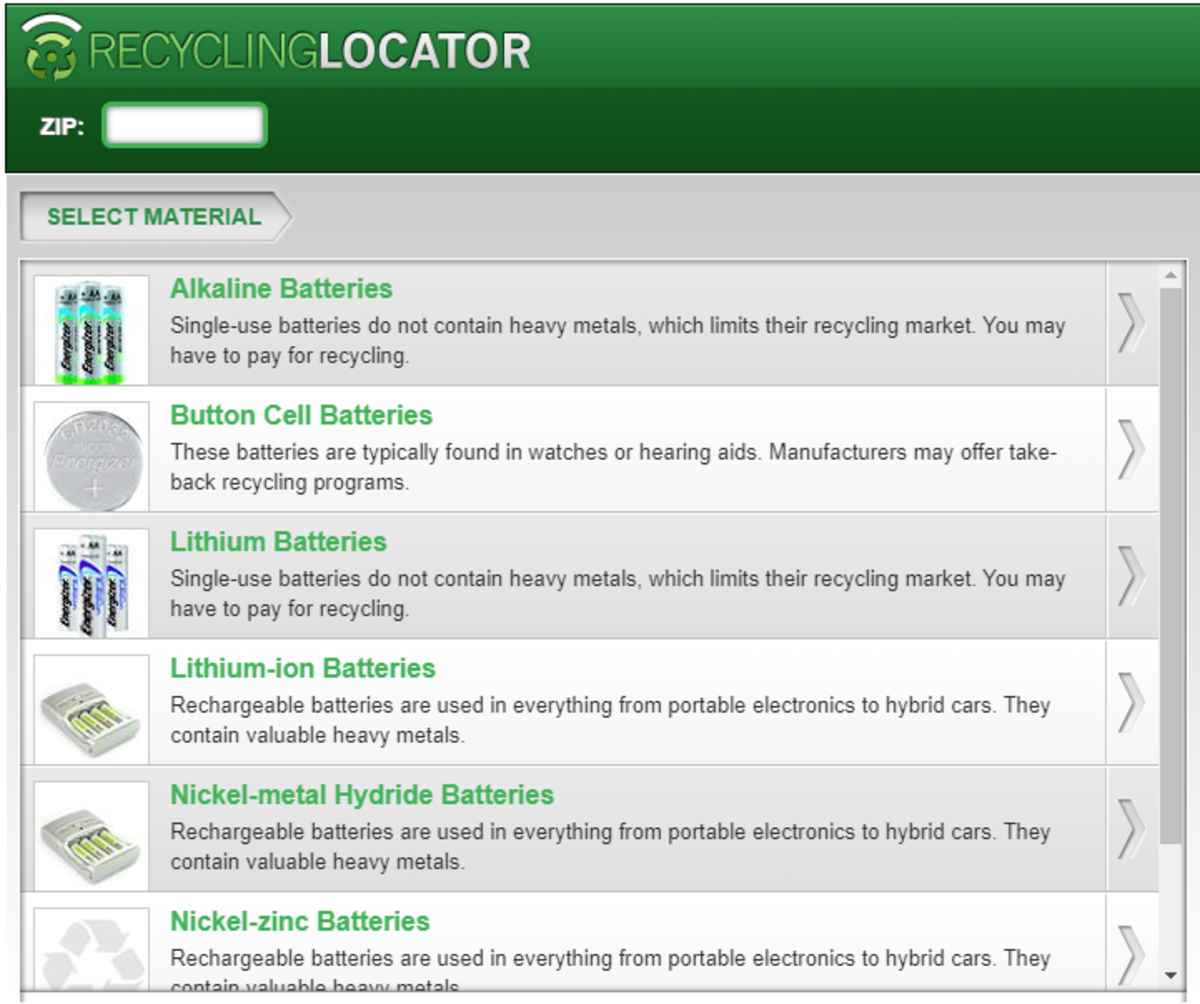 Battery Recycling Center Locator
