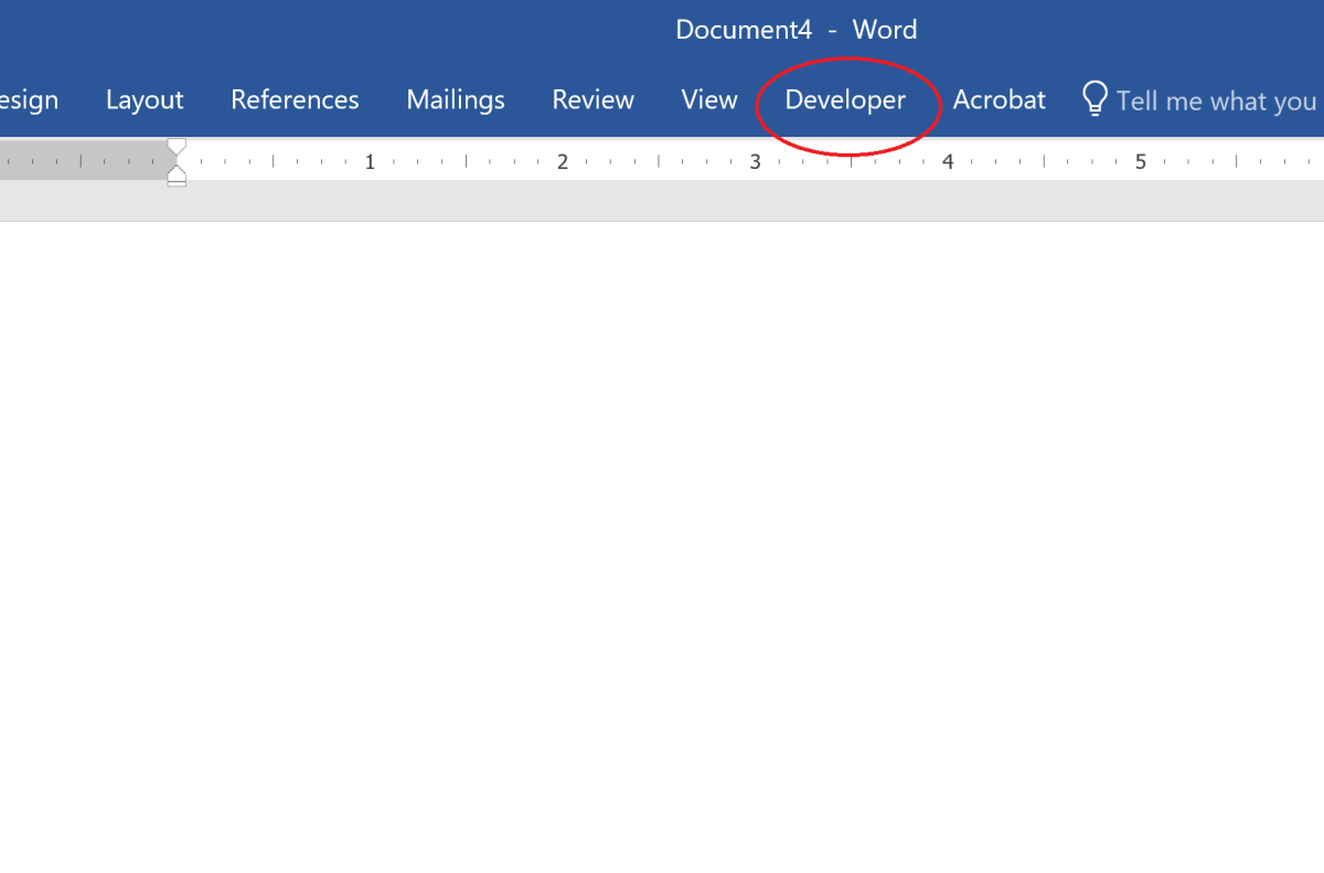The developer tab unlocks many Word options that will be at your disposal.