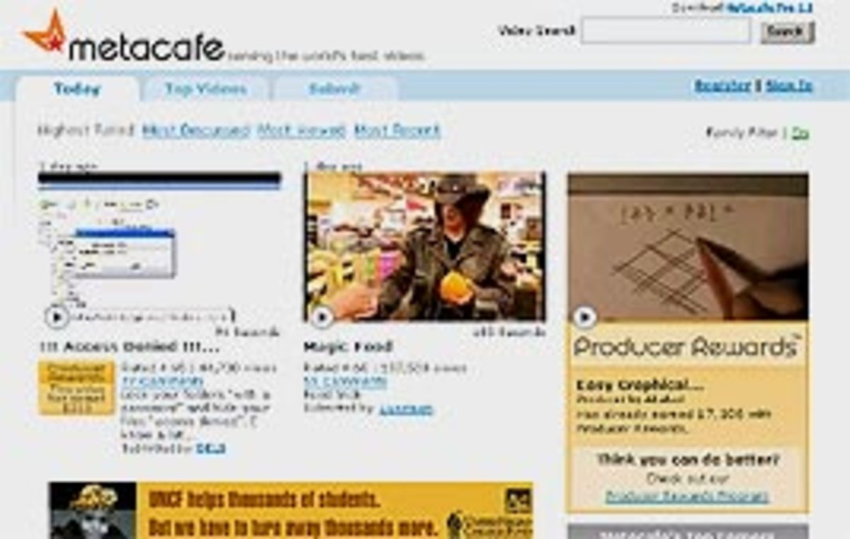 Metacafe is all about short entertaining videos.