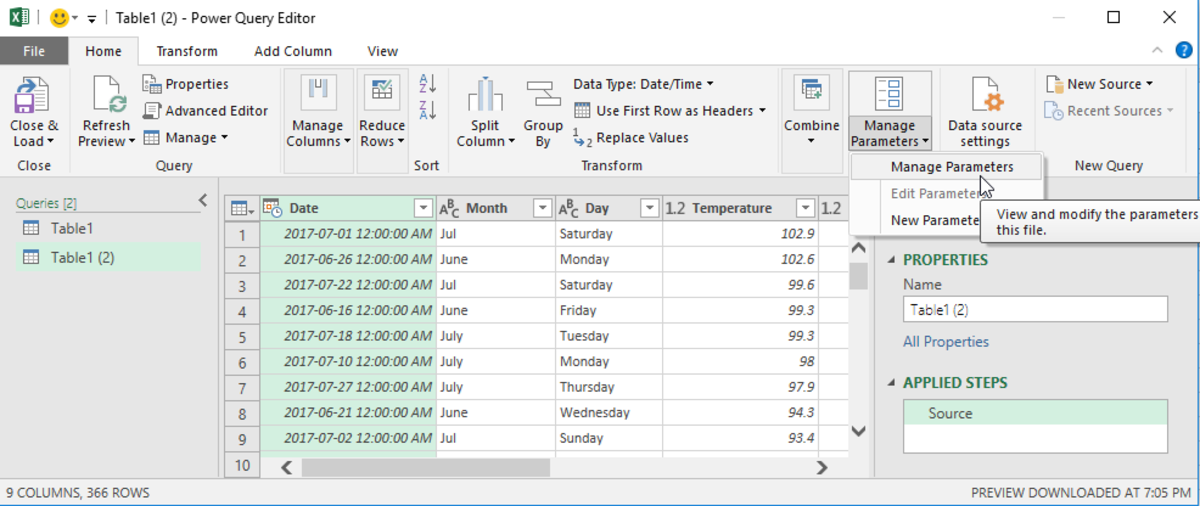 Either by selecting your data in the Excel worksheet or by importing external data, you can create a What if Scenario tool in Power Pivot
