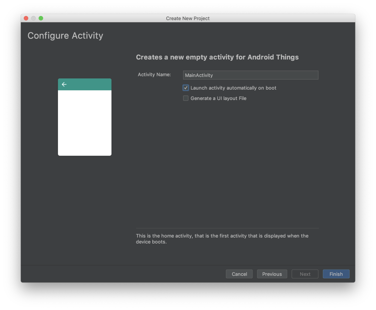 Android Things –– Give name to your activity