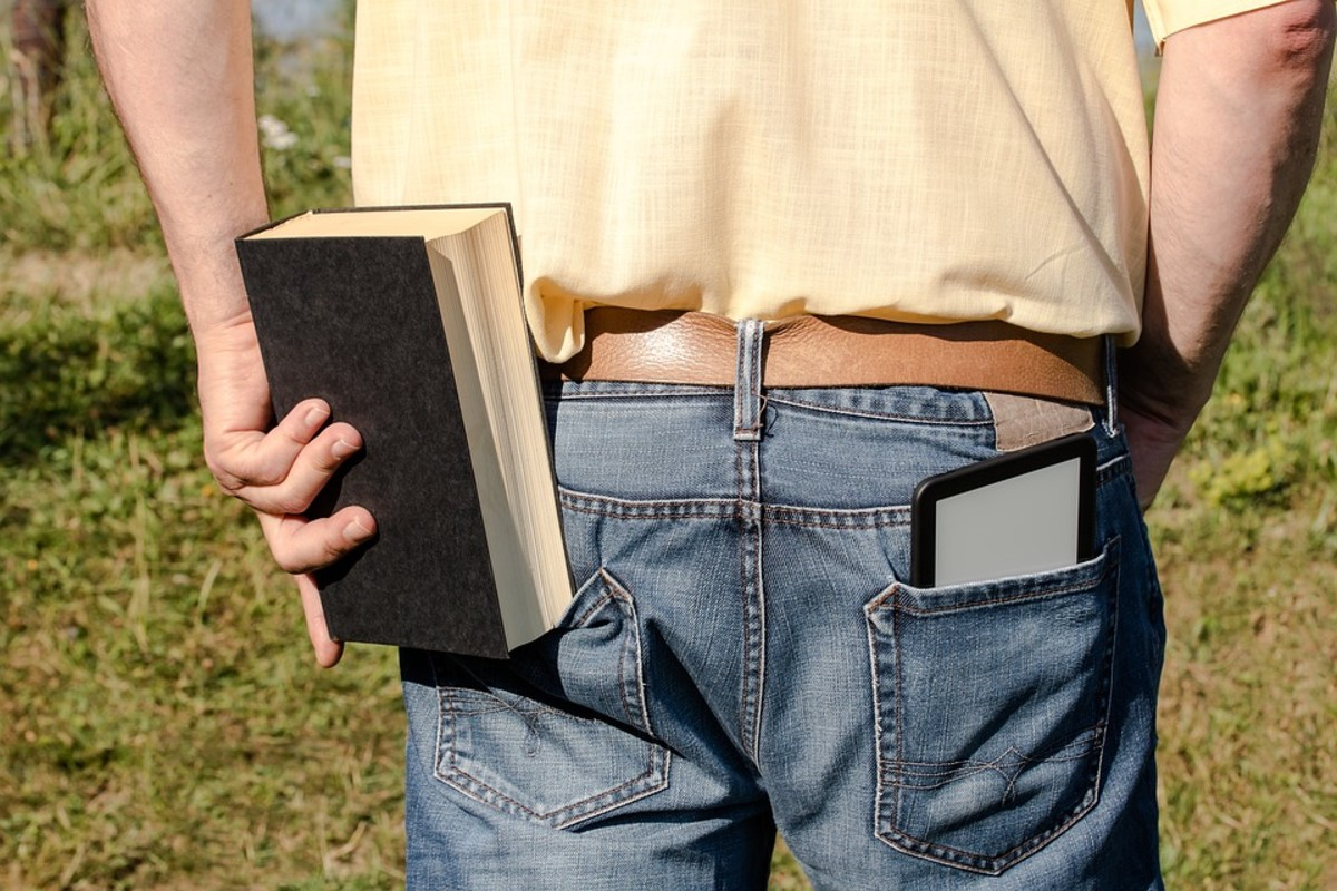 eBooks are much more portable that print books.