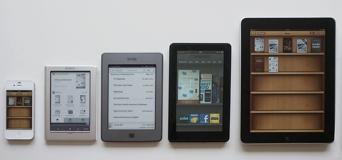 eReading apps on different devices