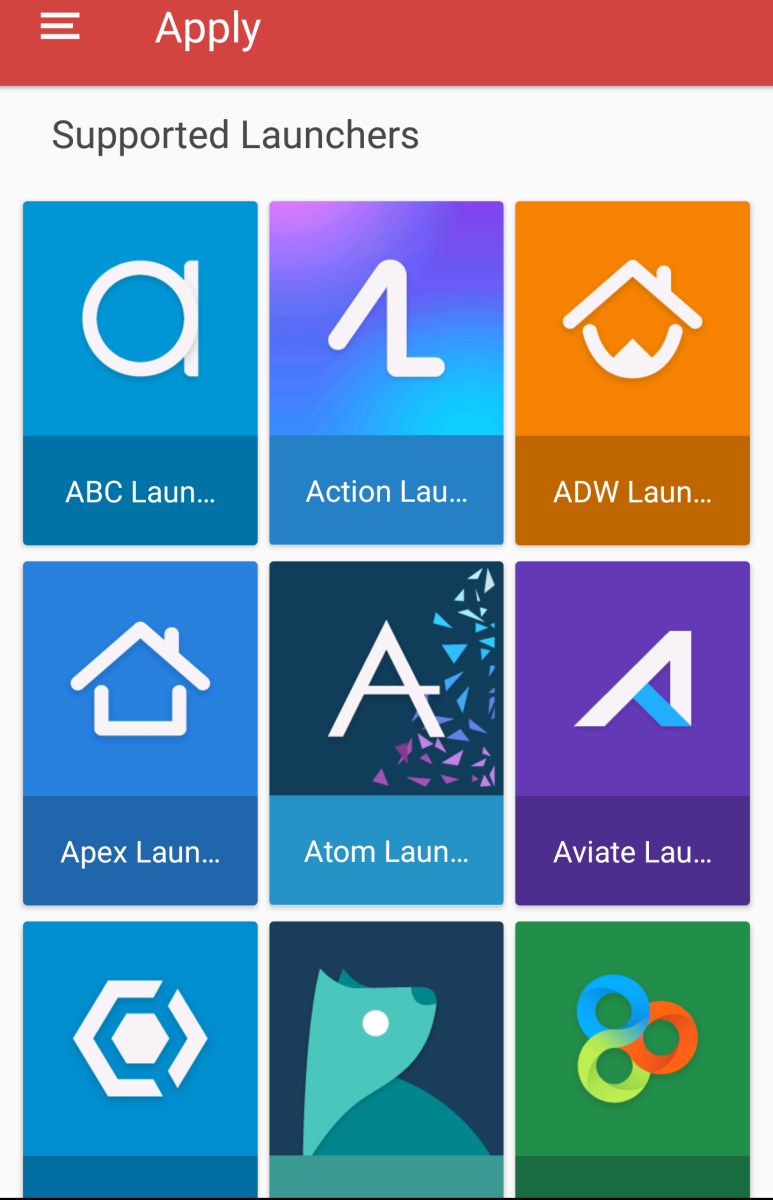 Here are some launchers supported by this icon pack.