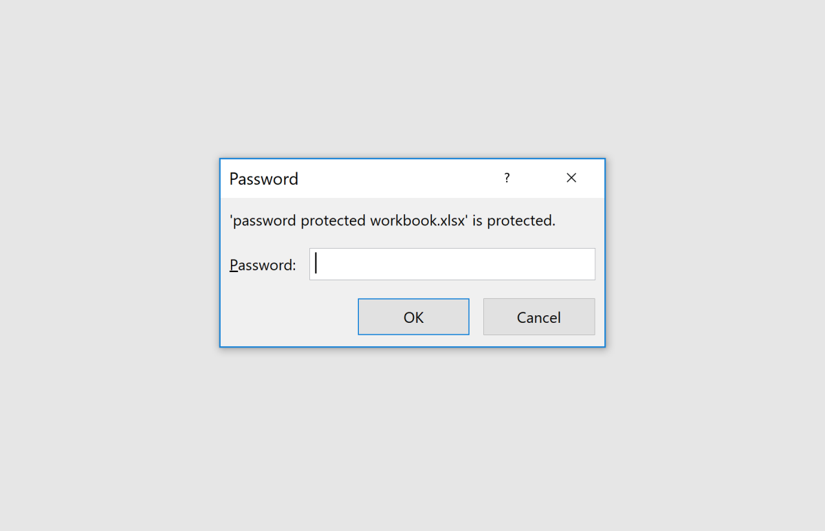 Be sure that your password is not too complex as you will not be able to unlock the workbook without it.