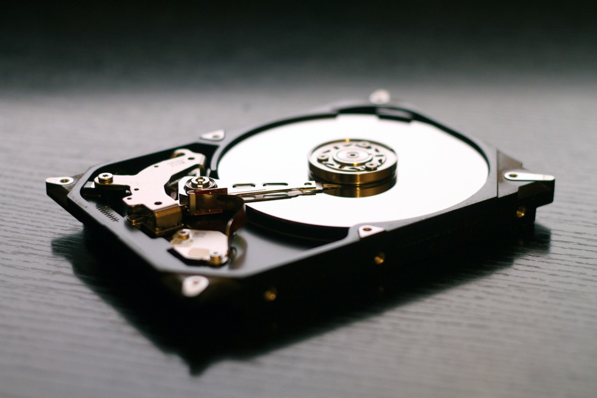 The hard disk drive in your computer probably looks something like this.