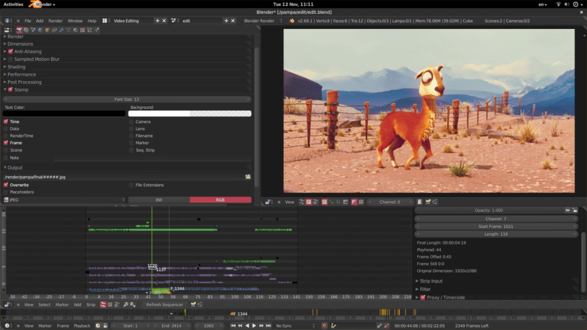 Blender's free video editor is just one aspect of this program that can be used to create video games and animations, among many useful features.