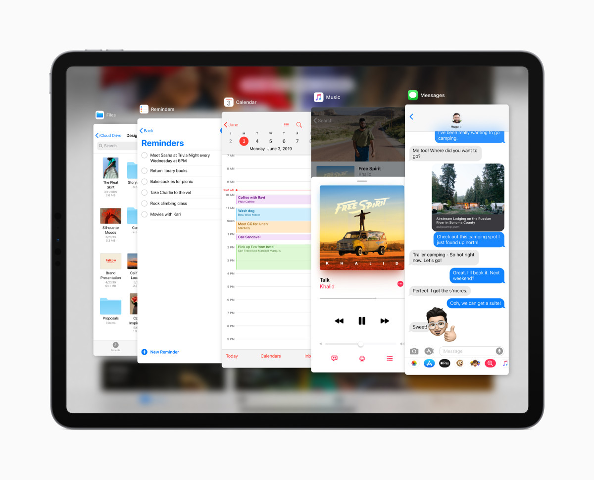 You can view all your Slide Over apps at once in iPadOS