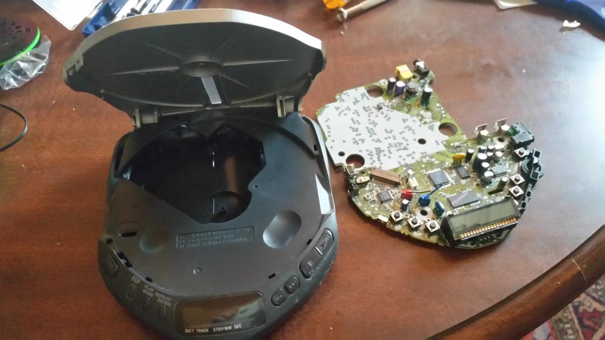 Discman circuit board, removed.