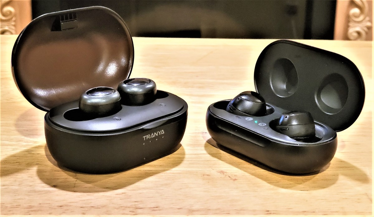 Tranya T1-Pro (left) vs Samsung Galaxy Buds (right)