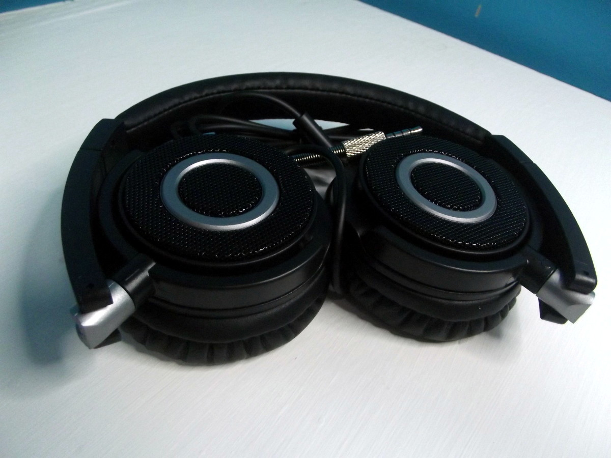 Folded pair of Vogek Lightweight Headphones.