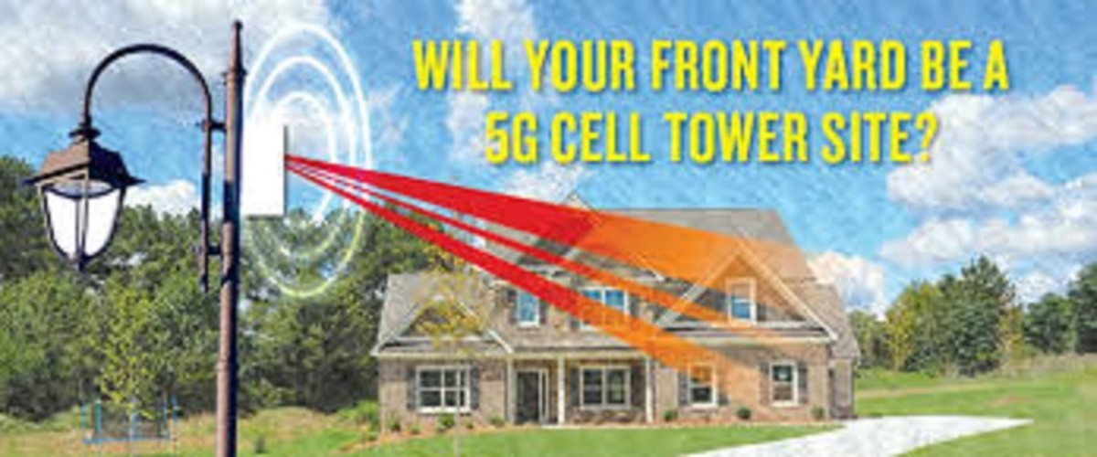 The towers needed to deliver 5G wireless service will be located very close to where people live and work, such as on light pole in front of a house.