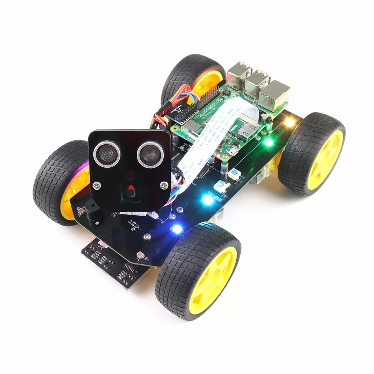 The Freenove smart car is a more barebones but clever robot kit