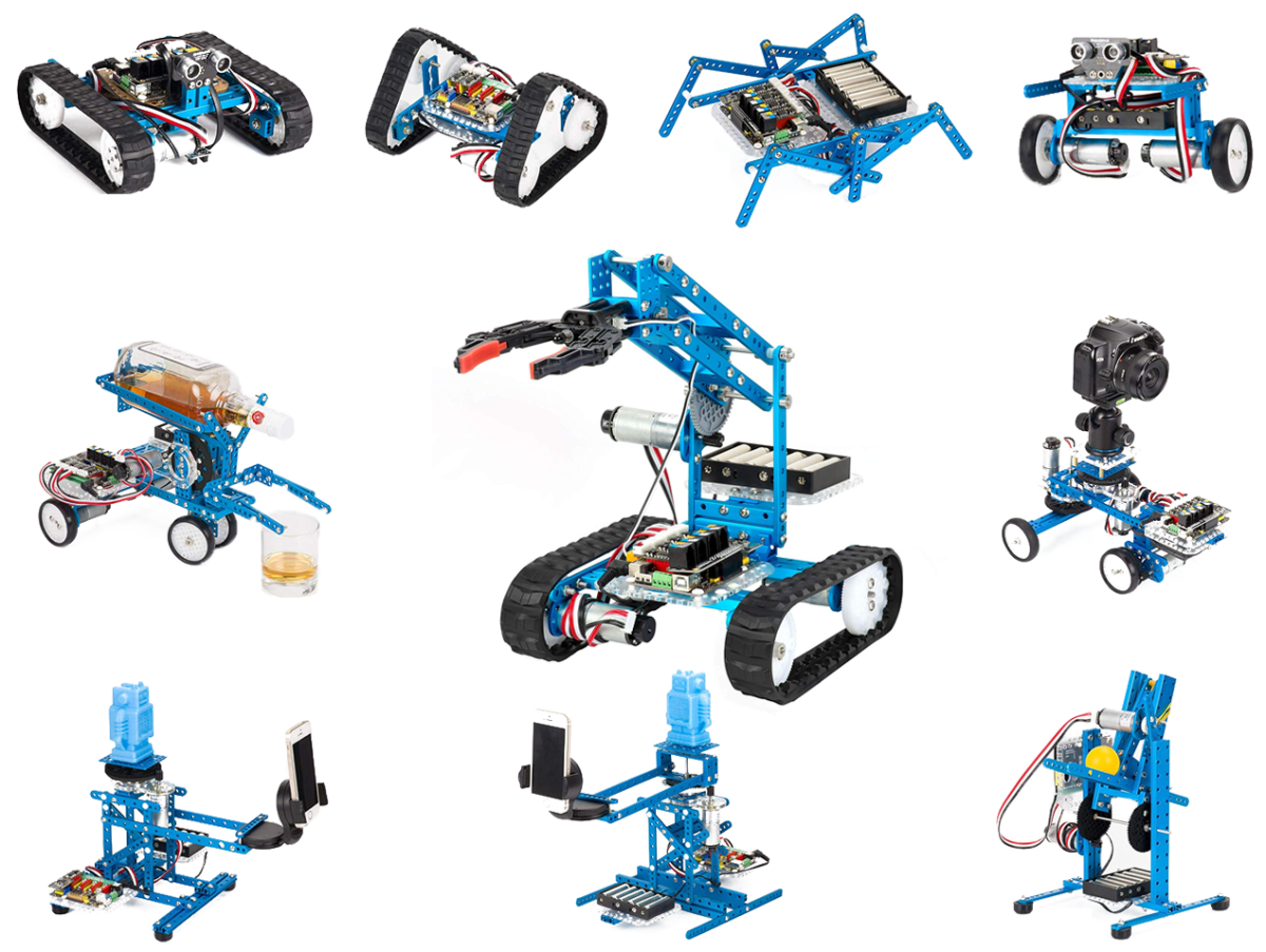 The MakeBlock Ultimate kit has many possible configurations