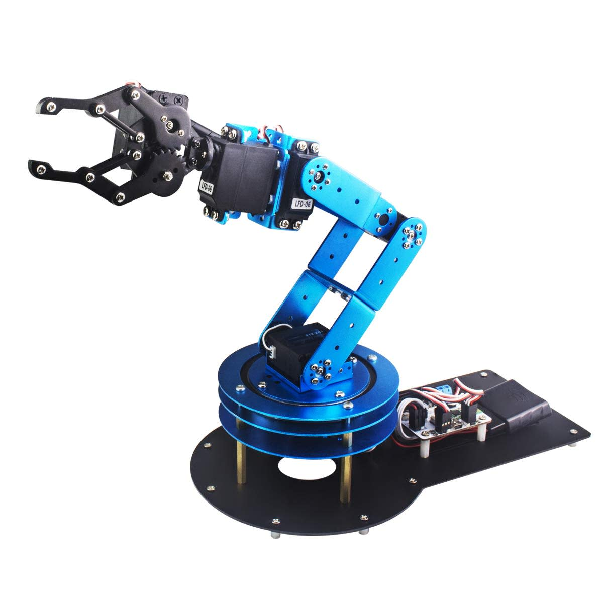 Is this robot arm the perfect little robot helper for your electronics projects?
