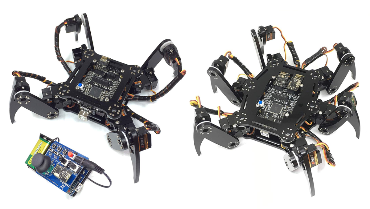 Quadruped and Hexapod robot kits might be the creepiest yet