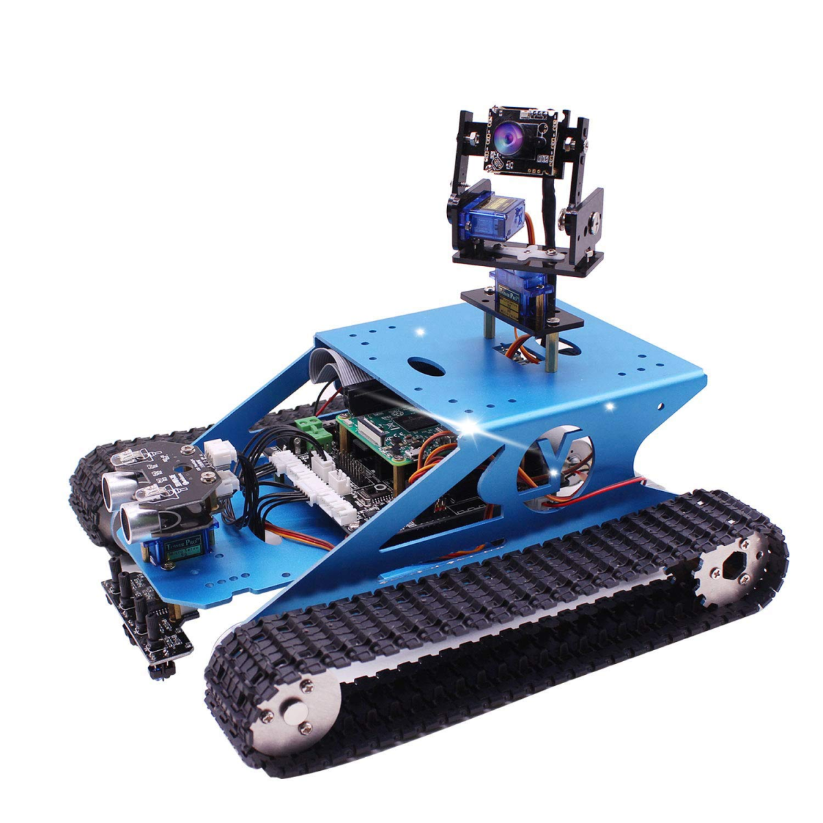 This robot tank is a high-quality kit and the perfect platform for adding your own creativity