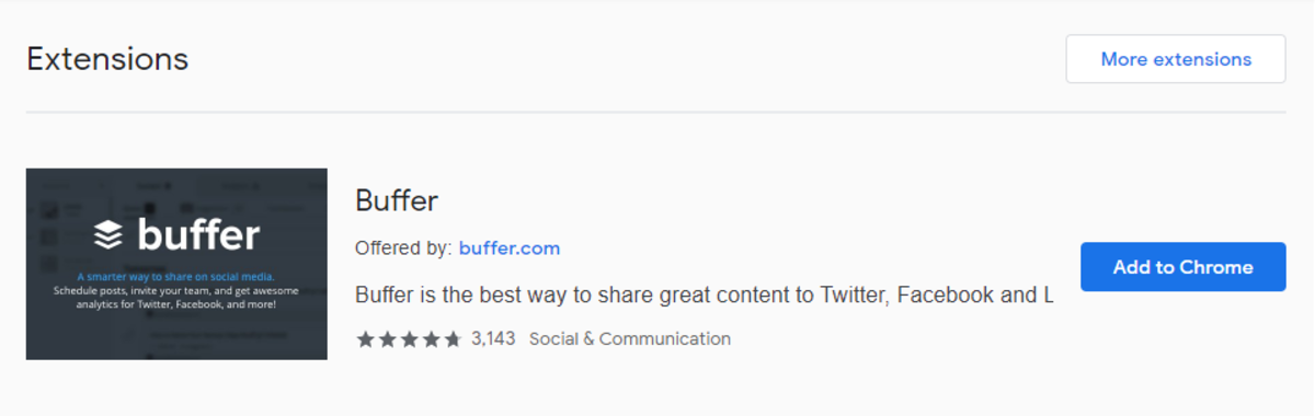 The Buffer Chrome Extension