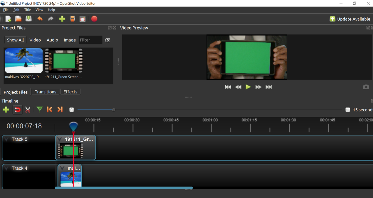 OpenShot Chroma Key software