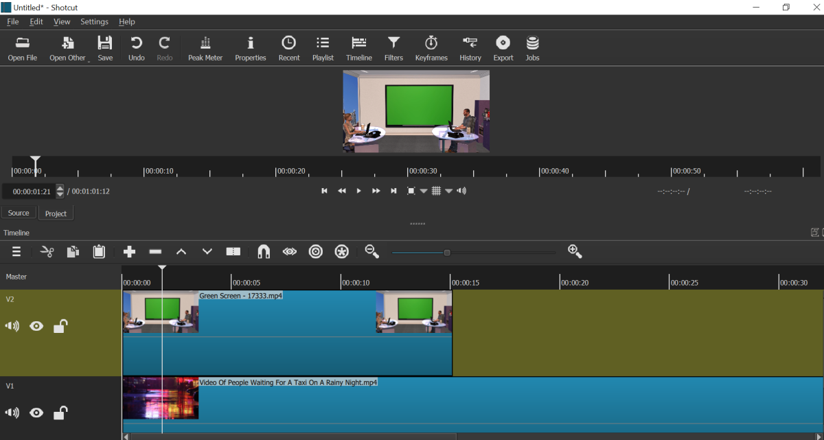 Import both files and place them on video tracks