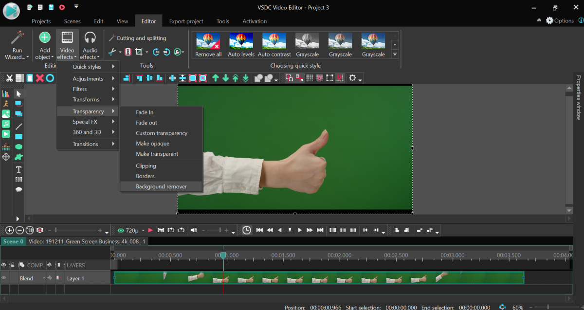 VSDC Chroma Key Software