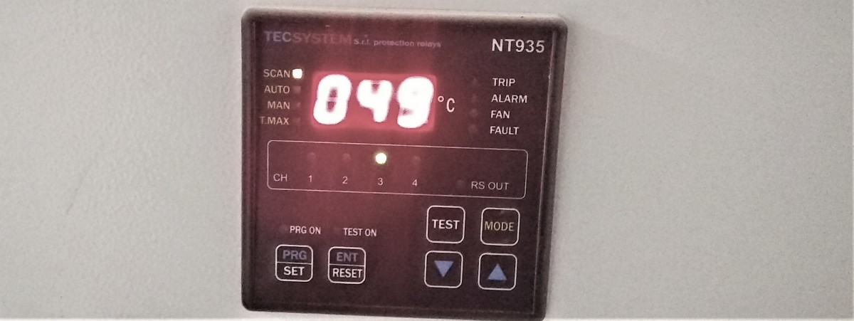 Typical temperature control unit for a dry-type transformer.