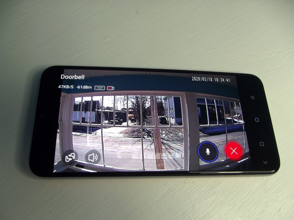Monitoring front porch using a video equipped doorbell