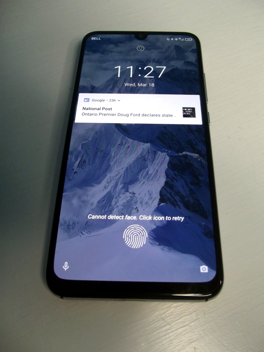 This phone is equipped with a fingerprint scanner