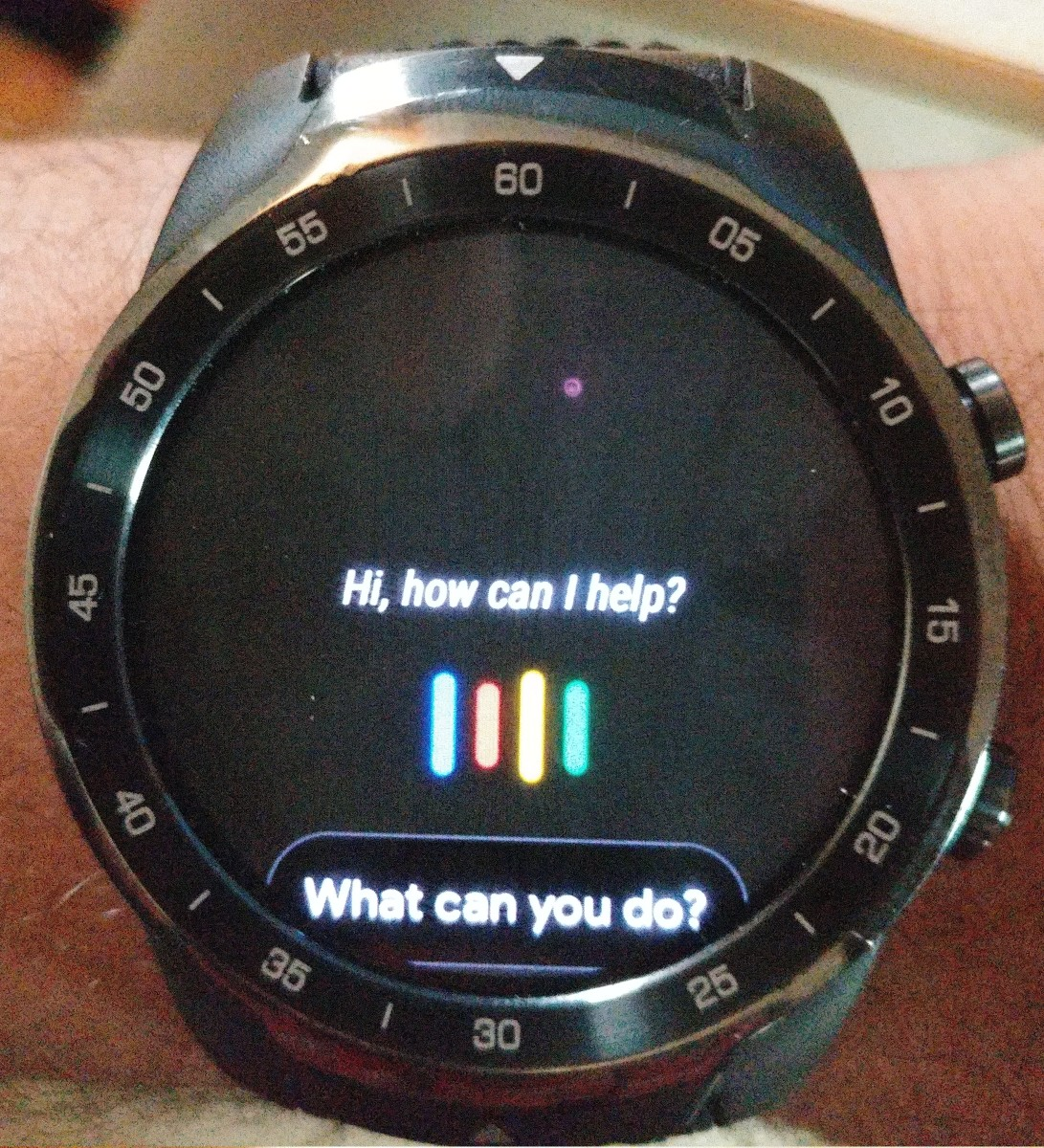 This is the Google Assistant APP on the TicWatch Pro.