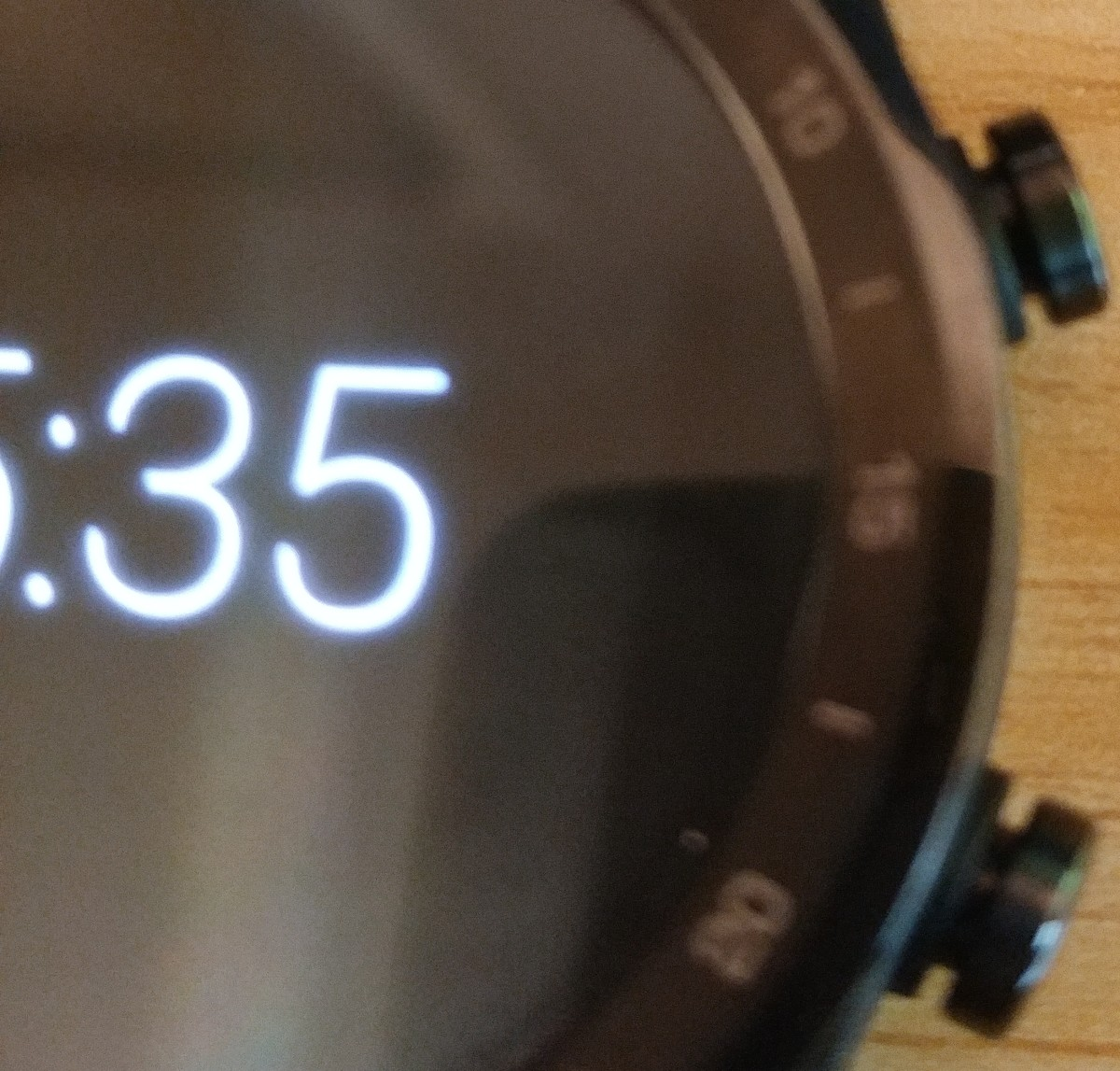 These are the buttons (crowns) on the TicWatch Pro.