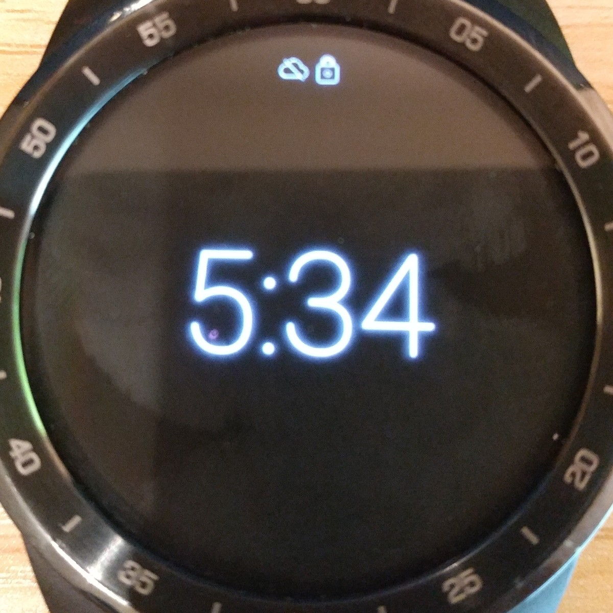 This is the TicWatch Pro screen.