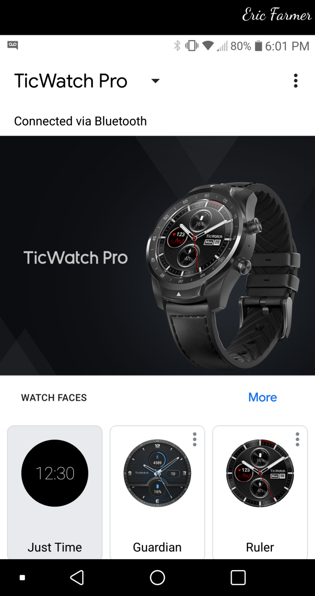 This is what the Wear OS APP looks like.