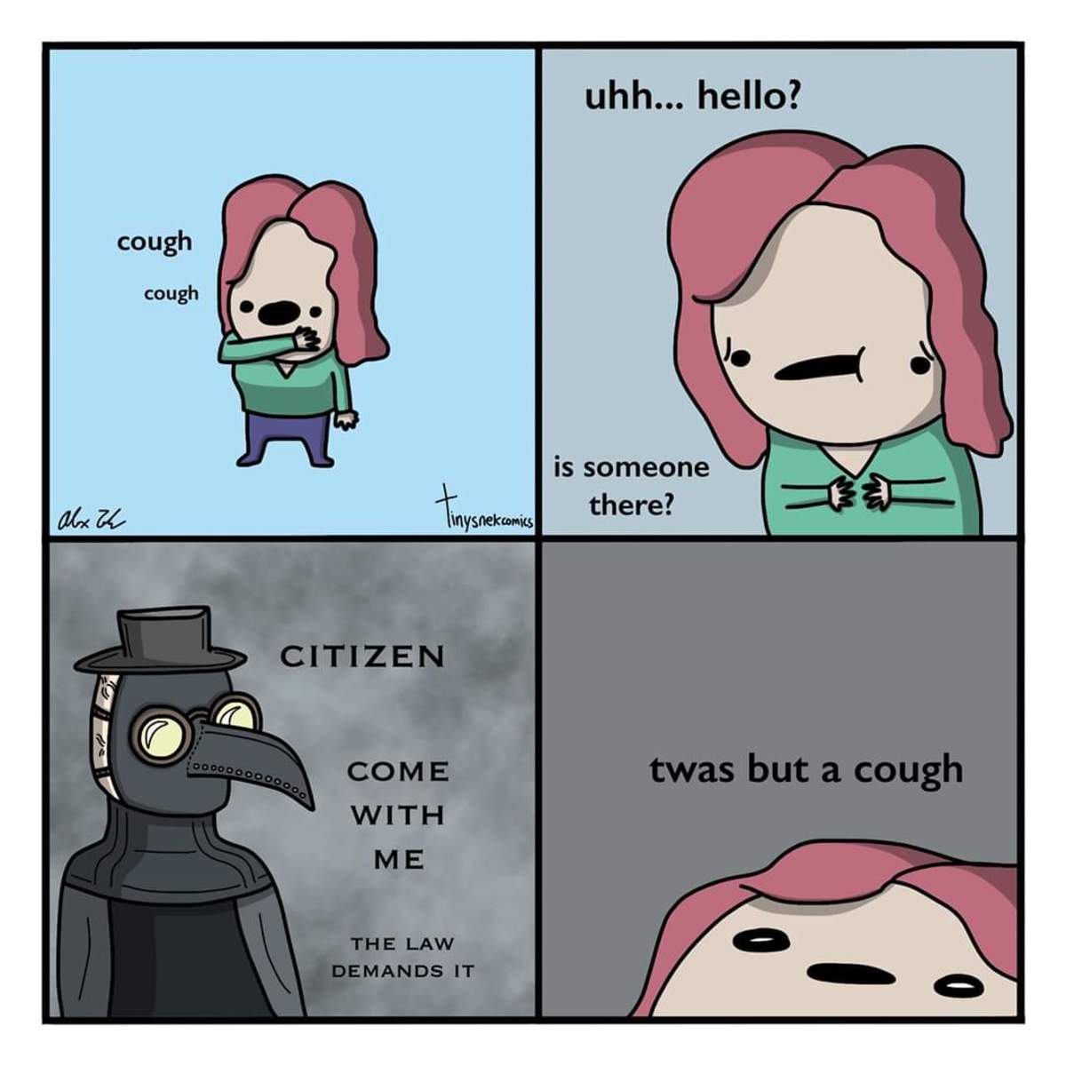 A funny meme created by Tiny Snek Comics in Facebook featuring SCP-049
