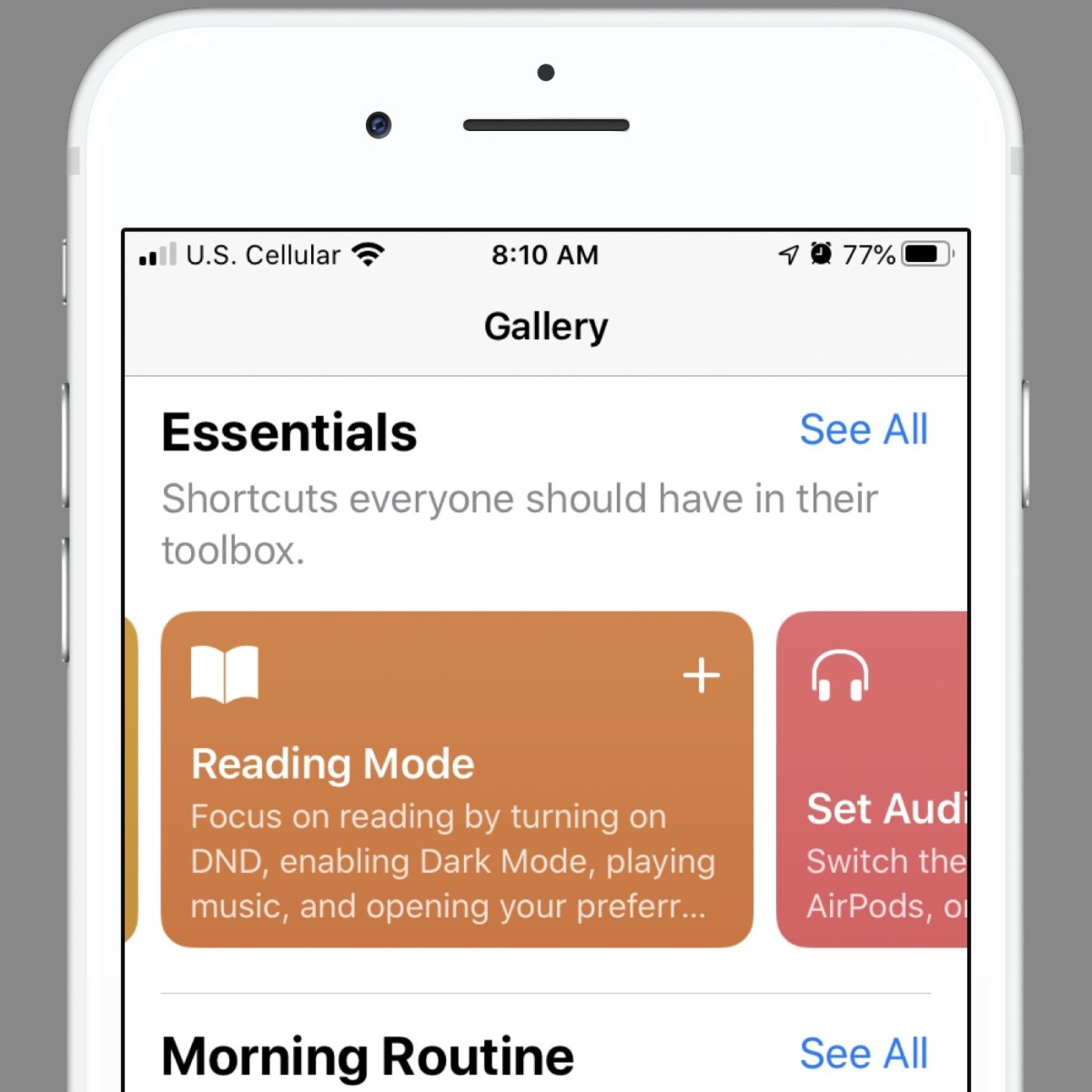 The  Shortcuts Gallery is a great place to look for new shortcuts