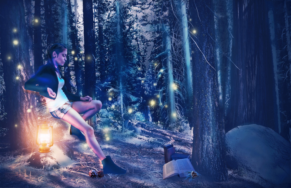 This is my Magic Forest Photo Composite.