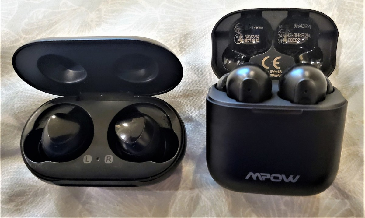 Samsung Galaxy Buds (left) - Mpow X3 TWS Earbuds (right)