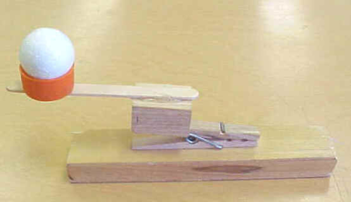 A simple toy catapult that you can use for target practice games