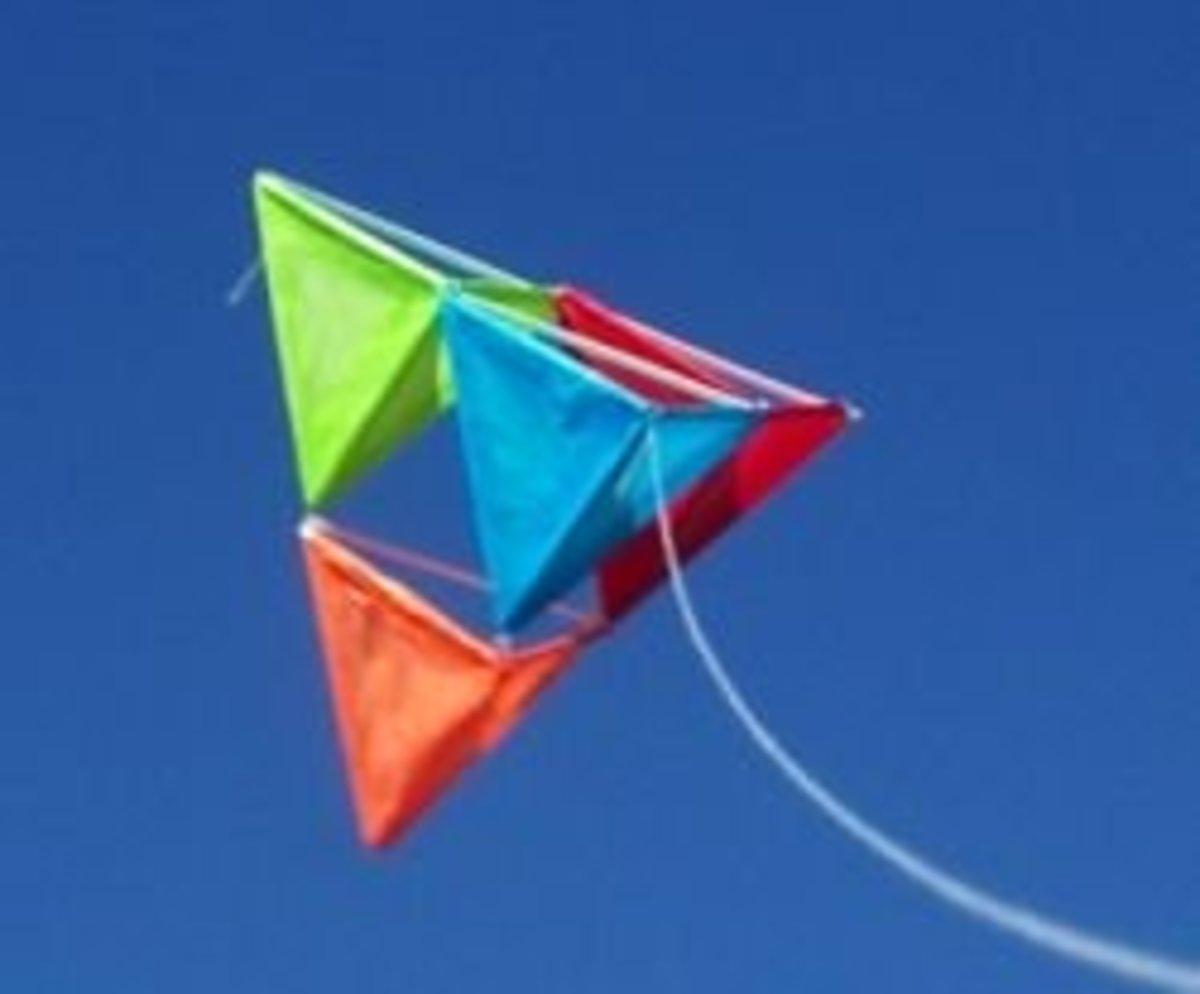 Flying Tetrahedral Kite