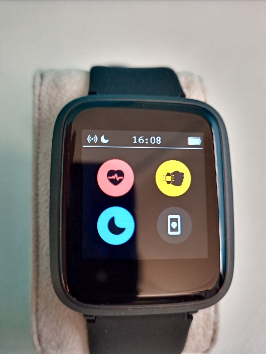 Umidigi Ufit Smartwatch option screen