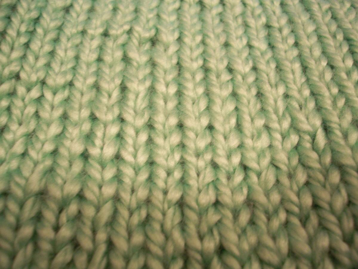 Stockinette stitch: right side