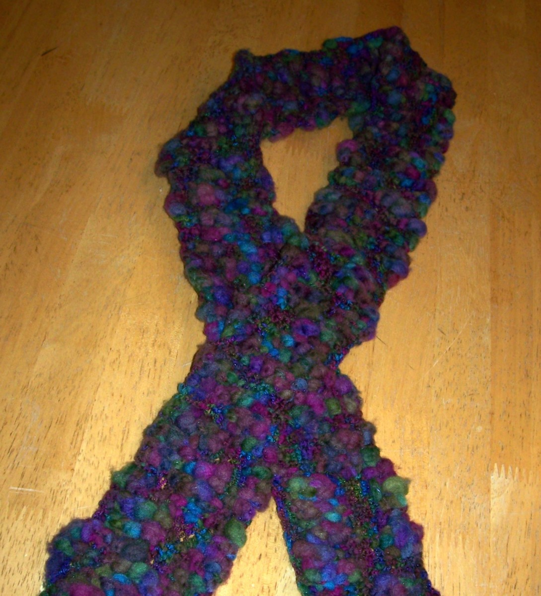 How to Knit a Scarf -- Bubble Wrap Knit Scarf Pattern