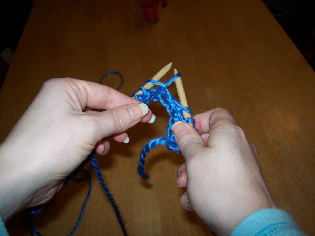 Bring loose yarn through the stitch, then drop old stitch off of loose needle.