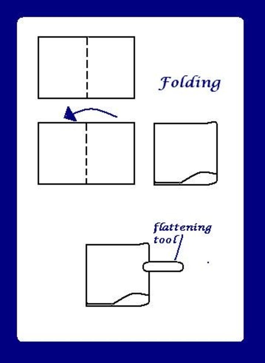 Don't forget to hold the pages together with your left hand as you fold.
